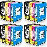 feier - 29XL Recambio cartuchos de tinta Epson 29 29 XL compatibles con impresoras Epson Expression Home XP-342 XP-452 XP-455 XP-255 XP-442 XP-245 XP-352 XP-355 XP-257 XP-235 XP-247 XP-330 y XP332