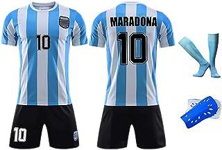 YENDZ, Maradona - Camiseta de fútbol para hombre y mujer, diseño retro de 1986
