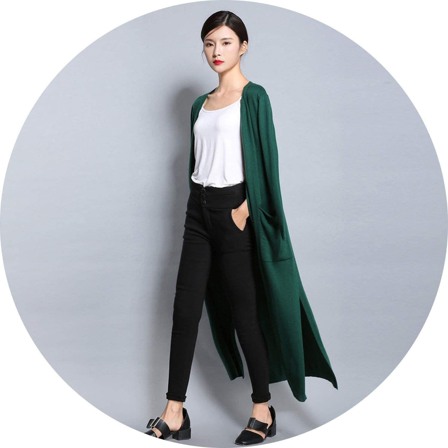 Cardigan Women Long Cardigan Lady Cashmere Material Loose Sweater for Female Outerwear Coat Plus Size