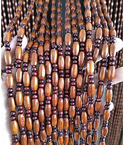 N / A 45 Stränge Hölzern Perlenvorhang Türvorhang zum Türöffnung Eingang Wohnzimmer Raumteiler Wandschrank Cafe Restaurant Dekoration Hängen Panel (Color : Dark Brown, Size : 90x200cm)