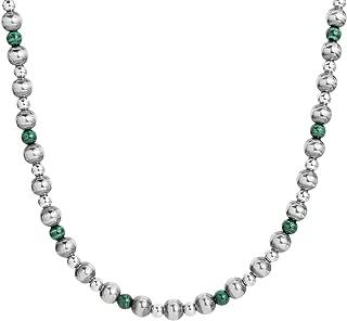 American West Silver Multi Gemstone Elección de 4 colores diferentes Collar de cuentas de 15, 24 o 32 pulgadas