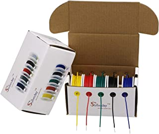 Striveday™ 22 AWG Hook Up Wire 1007 PVC Solid wire Kit box Electric wire 22 gauge 300V Cable (26.2ft Each Color)