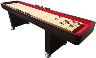 simba usa 9' Shuffleboard Table Game Table Home Indoor Game Gameroom Table with Pucks