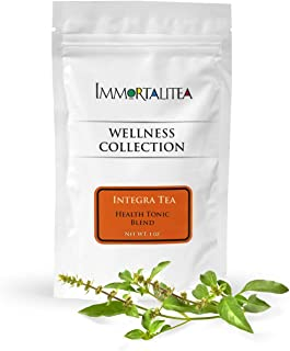 Integra Tea - Slimming Weight Loss Tea, Powerhouse Loose Leaf Herbal Tea Blend of Gynostemma Leaves Tea, White Mulberry, Tulsi & Wu-long - Suppress Appetite, Block Sugar & Boost Your Metabolism, 1oz