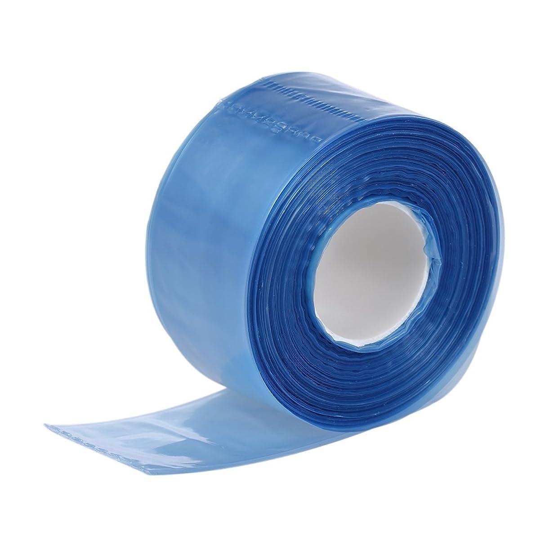 側溝省略する無一文Decdeal 200pcs / ボックス メガネの足のためのプラスチック 使い捨てのカバー 細長い袋の髪の着色染色DIYツール