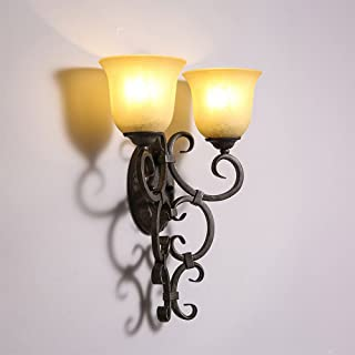 MX Light Fixture Vintage Retro Bedroom Headboard Wall Lamp Restaurant/Hallway/Bar/Vintage Industrial Wall Lamp Size 37.5*4...