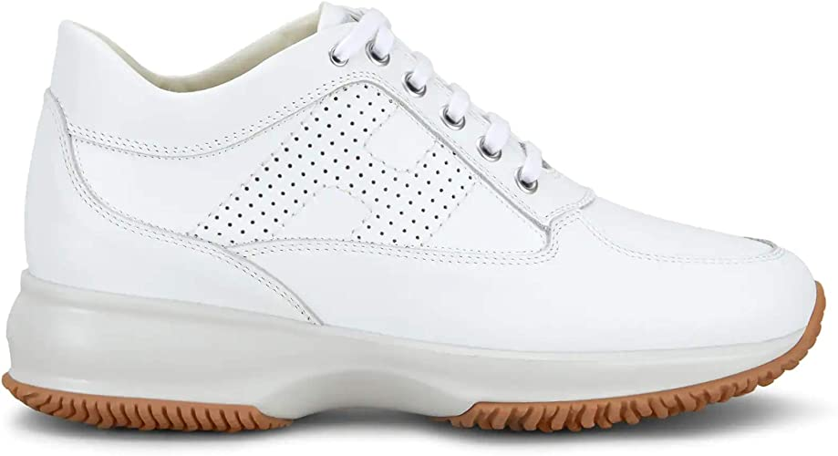Hogan Sneakers Donna Interactive Bianca con H Forata - HXW00N00E30 KLAB001 - Taglia