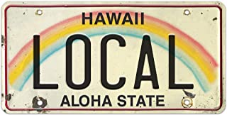 Pacifica Island Art 6 x 12in Vintage Hawaiian Embossed License Plate - Local