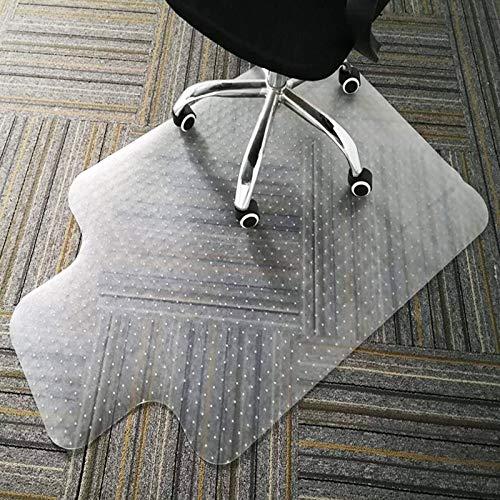 Alfombrilla transparente para silla con borde para suelos de alfombra de pelo bajo y medio, 90 x 120 cm, alta resistencia al impacto, antideslizante, material no reciclable