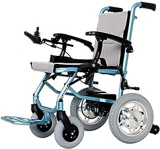 DSHUJC Sillas de Ruedas eléctricas, sillas de Ruedas Plegables y Ligeras para Adultos, Silla eléctrica de Transporte, Scooter motorizado portátil Seguro más Seguro, Estable, para Personas