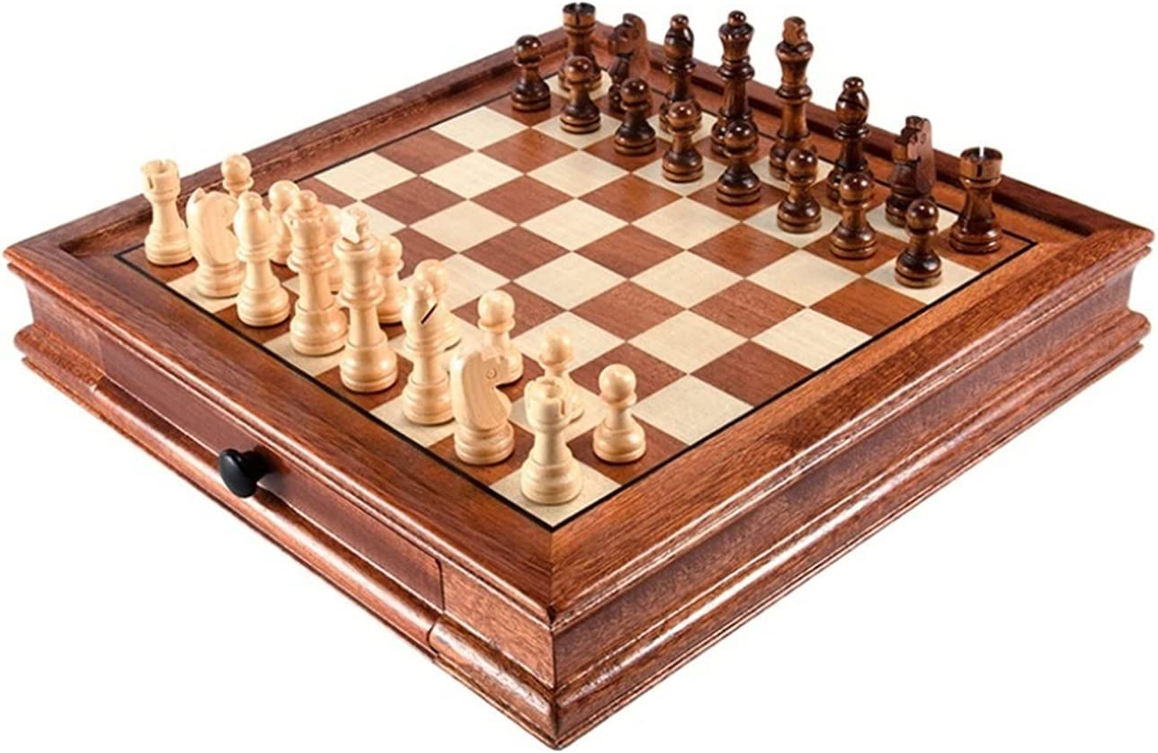 XIAOQIU Chess New arrival Set Magnetic Desktop San Jose Mall Drawer with Solid Wood