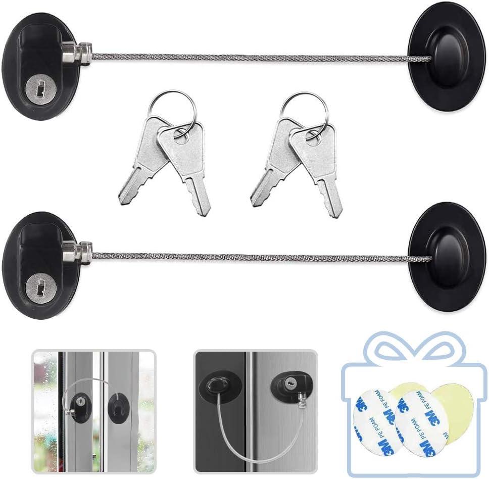 Refrigerator Door Locks 2PCS Direct sale of manufacturer Fridge Child Freezer Keys store Lock with