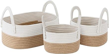 UBBCARE Cotton Rope Storage Baskets Storage Bins Organizer Decorative Woven Basket for Nursery Baby Clothes, Toy, Makeup, ...