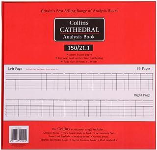 Collins Debden Ltd 061357 Katedralanalysbok, 20 kassarkolumner, 297 x 315 mm, 96 sidor