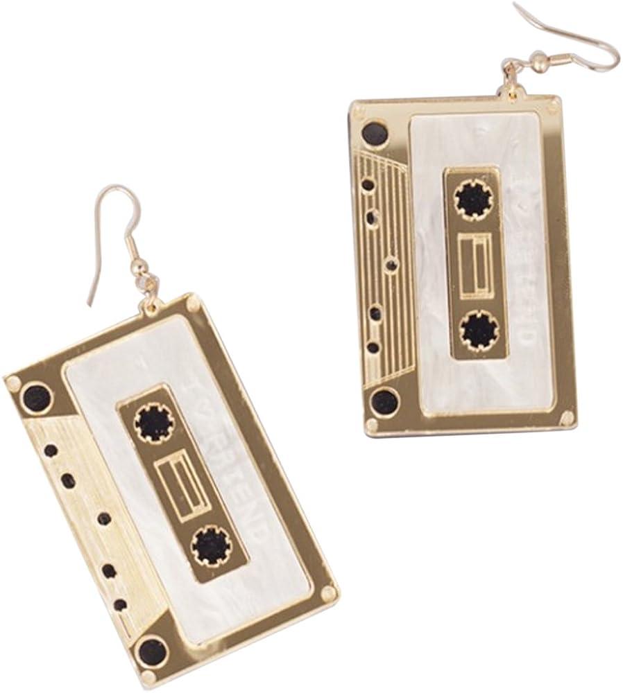 CutieJewelry Cassette Tape Dangle Cute Pretty Earrings