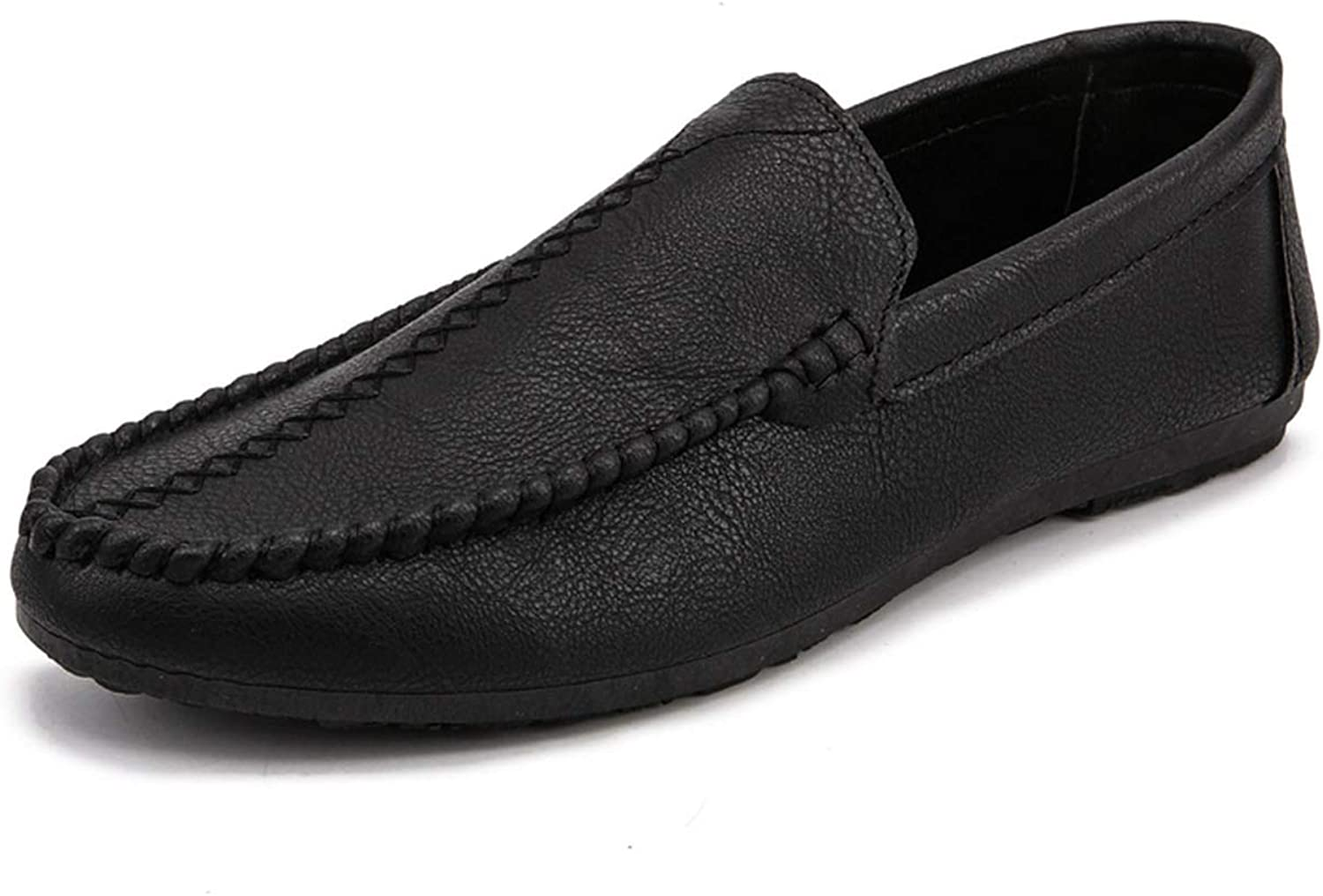 Pleasantlyday Men's Breathable Leather Loafers shoes Autumn Slip On Drive Peas shoes Size39-44