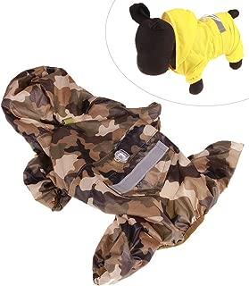 Xiaoyu chaqueta impermeable para perro de mascota con chubasquero impermeable y tiras reflectantes de seguridad ajustables para perro, marrón, XXL