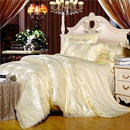 funda nordica cama 180,EUROPEO TIANSI Algodón Satin Jacquard Cuatro sets, algodón se utiliza para la cama de la cama de 1,8 m de la cama, usado en el hotel familiar Habitación infantil Día de la madr