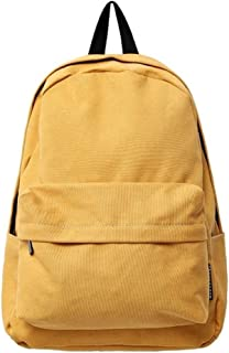 Canvas College School Bag Laptop Backpacks Multi-Functional Casual Fashion, Large-Capacity Travel Shopping Bag (Color : Yellow, Size : 11 inches)