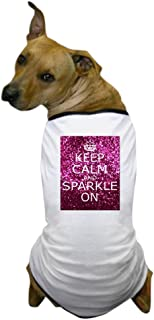 CafePress - Keep Calm And Sparkle On - Dog T-Shirt, Pet Clothing, Funny Dog Costume