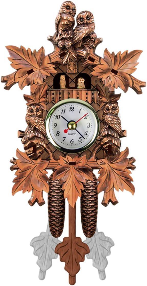 Cuckoo Clock Handcraft Retro El Paso Mall Same day shipping Style Tree Wood House