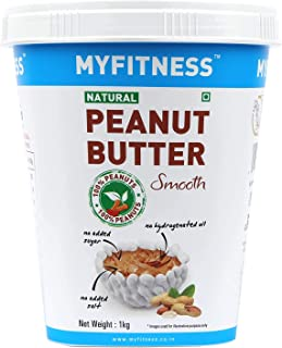 I LOVE PB My Fitness Gold Natural Peanut Butter Smooth Crunchy Combo 1000 G (Pack of 4)
