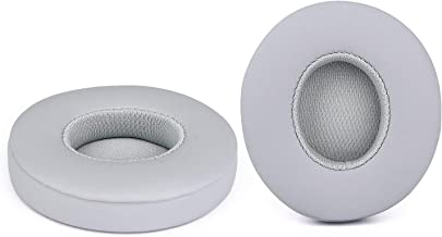 Solo 2.0 Wired Replacement Earpads, JARMOR Memory Foam Ear Cushion Cover for Beats Solo 2.0 Wired On Ear Headphones by Dr. Dre ONLY, (Does NOT FIT Solo 2.0/3.0 Wireless) (Grey)