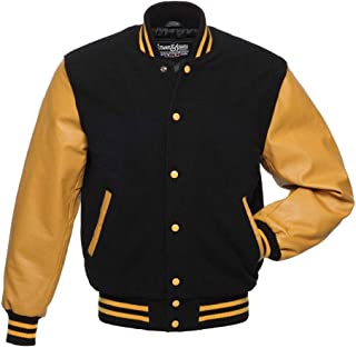 Original Varsity Letterman Jackets (48 Team Colors) Wool & Leather XXS to 6XL
