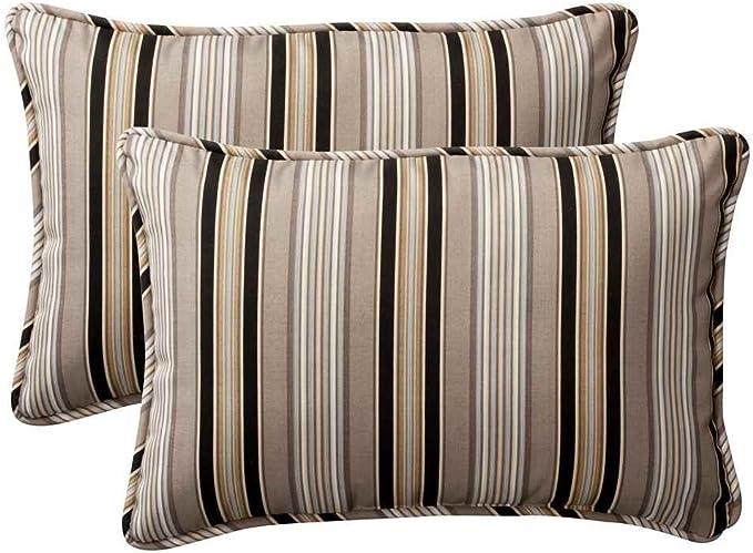 Pillow Perfect Decorative Brown Blue Tropical Toss Pillow Home Kitchen Amazon Com