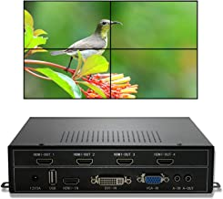 ISEEVY Video Wall Controller 2x2 Video Wall Processor Support HDMI DVI VGA USB inputs for 4 TV Splicing
