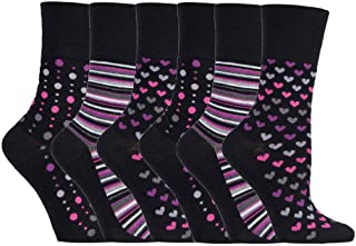 Mega_Jumble® New Ladies Women Gentle Grip No Elastic Socks,