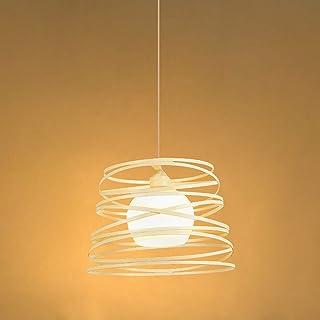 Lámpara de Techo Moderno, Lámpara Colgante Metal Creativo Nordica, Enchufe E27 máx 60w Cable Ajustable de 1m, Luz de Techo Iluminación Para Dormitorio Sala de Estar Comedor Balcón Cafetería (Blanco)