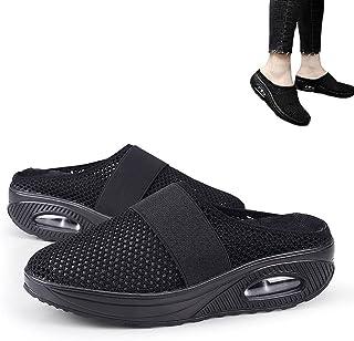 Hengyuan Chaussures de Marche à Coussin d'air pour Femmes, Sandales de Marche orthopédiques diabétiques en Maille antidéra...