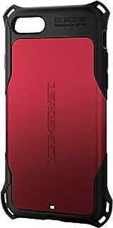 エレコム iPhone 8 ケース カバー 衝撃吸収 【 落下時の衝撃から本体を守る 】 ZEROSHOCK スタンダード 衝撃吸収 フィルム付 iPhone 7 対応 レッド PM-A17MZERORD