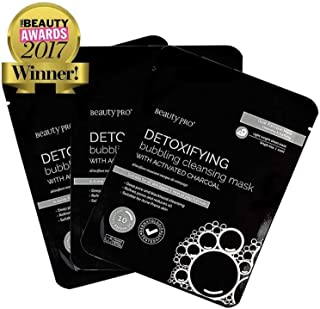 BeautyPro Trio Pack DETOXIFYING Bubbling Cleansing Mask With ACTIVATED CHARCOAL.