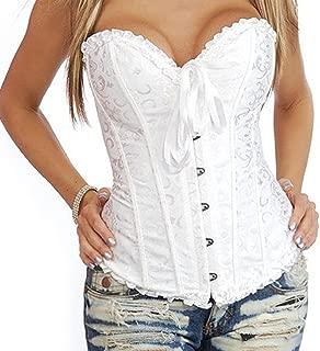 819 - Plus Size Lace Up Ribbon Ties Bustier Bridal Lingerie Corset