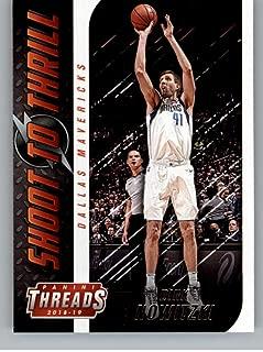 2018-19 Panini Threads Shoot to Thrill Basketball #7 Dirk Nowitzki Dallas Mavericks Official NBA Trading Card From Panini