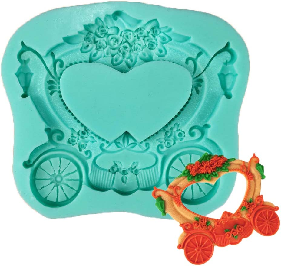 HUGUWEDING DIY Carriage Cinderella Silicone Cake Molds for Free shipping anywhere in Sale the nation Choco