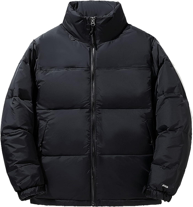 Men's Winter Down Jacket Parka, Thick Lightweight Coat Warm Outerwear Windproof Parka Puffer Jacket