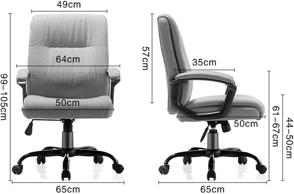 Tabouret de Bar Chaise de Bureau Ordinateur Chaise Chaise E-Sport Jeu Chaise Ergonomique Chaise Chaise étude ZHAOFENGE (Color : Khaki) Dark Gray