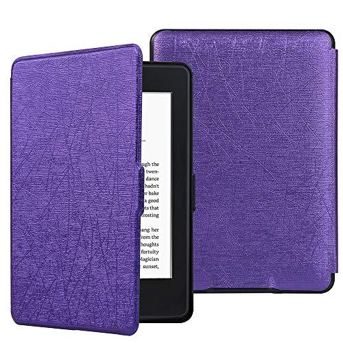 HiveNets Custodia rigida Kindle Paperwhite Premium Silk Cover più sottile e leggera con Auto Wake/Sleep per Amazon 2018 New Generation Viola