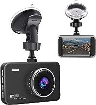 junsun Dash Cam 3 inch LCD Full HD 1080P 140 Degrees Wide Angle Dashboard Camera Car DVR Vehicle Dash Cam with Video Sensor, Loop Recording, Night Vision, G-Sensor, Packing Mode