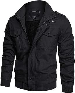 Men's Winter Casual Thicken Multi-Pocket Field Jacket Outwear Fleece Cargo Jackets Coat