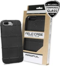 Case for iPhone 7 Plus / iPhone 8 Plus, with FREE TJS [Tempered Glass Screen Protector] Magpul [Field] MAG849 Polymer Cover Retail Packaging Compatible Apple iPhone 7 Plus/iPhone 8 Plus (Black)