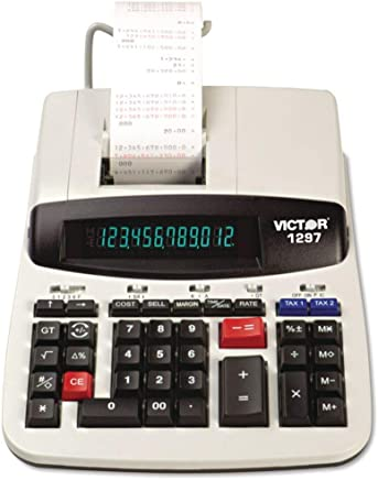 "$120 » VCT1297 - Dimensions : 8Wx11"" L - Victor 1297 Two-Color Commercial Printing Calculator - Each"