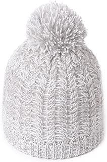 Women's Acrylic Knitted Slouch Pom Beanie Hat Warm