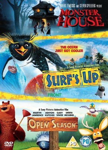 Surfs Up/Open Season/Monster House (3 Dvd) [Edizione: Regno Unito] [Reino Unido]
