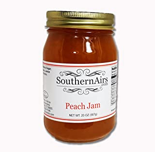 SouthernAirs Peach Jam / All-natural Southern peaches / Sweet Southern style recipe / 20-ounce
