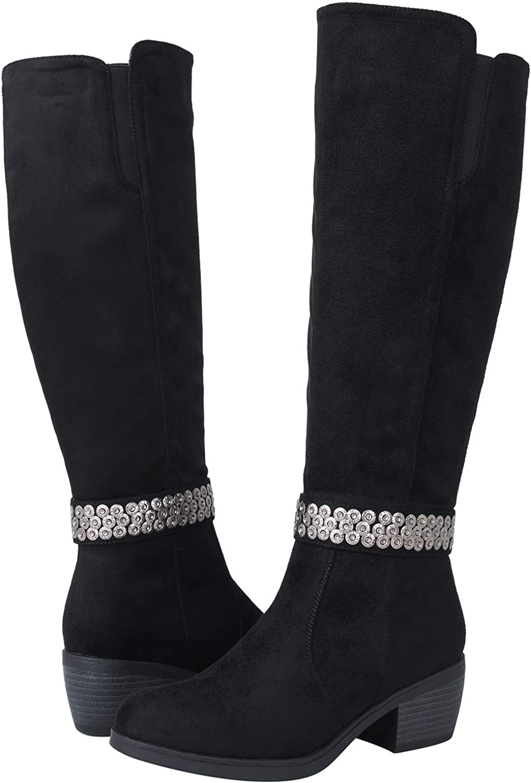 GLOBALWIN Women's 18YY22 Black Fashion Boots 6M