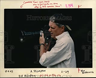 Historic Images - 1993 Press Photo Bill Plympton Photographer Animator Director Holding Camera